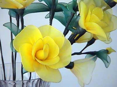 从开始设计到花的成型一般要经过下料