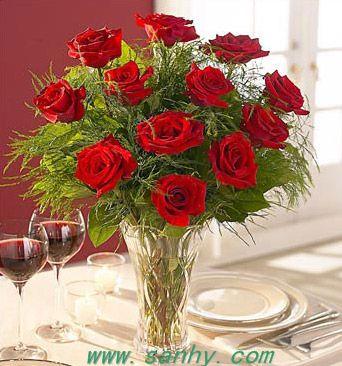 红玫瑰韩式花束图片大全